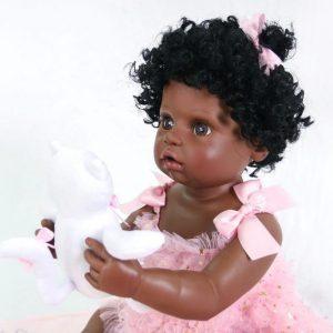 bébé reborn fille noire sofia
