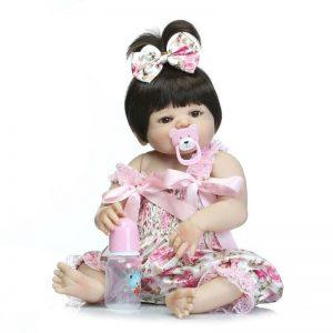 bébé reborn fille tout en silicone chloé