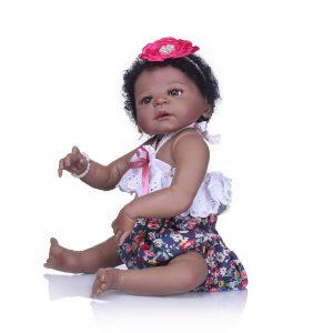 bébé reborn noir fille léa