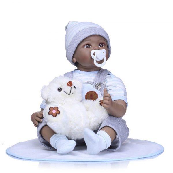 bébé reborn noir garçon oscar