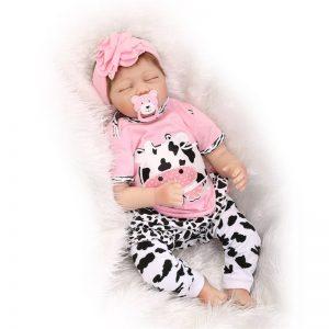 bébé reborn nouveau-né yeux fermés tessa