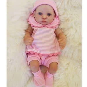 bébé reborn fille en silicone clémence
