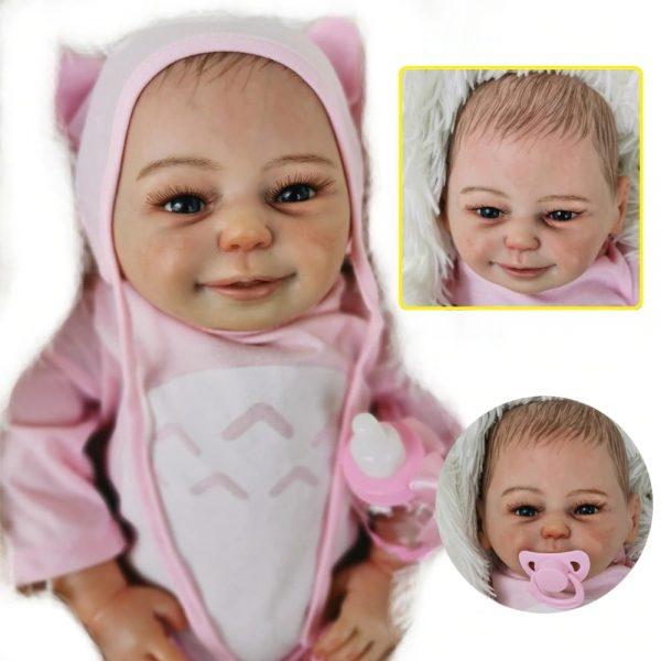 bébé reborn fille en silicone création édition limitée juliette