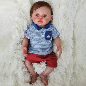 bébé reborn garçon en silicone aux yeux bleus hugo