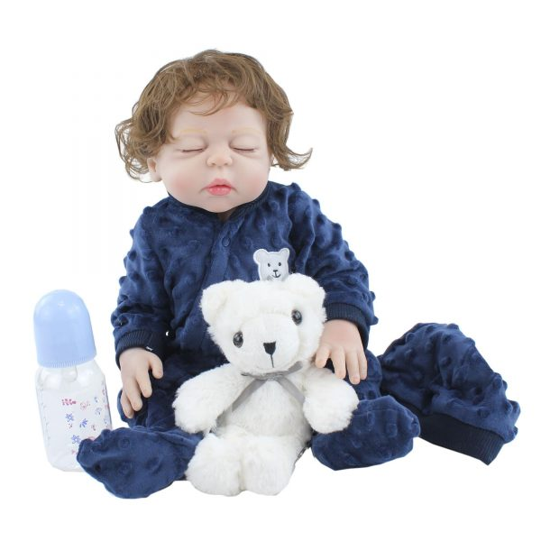 bébé reborn fille yeux fermés