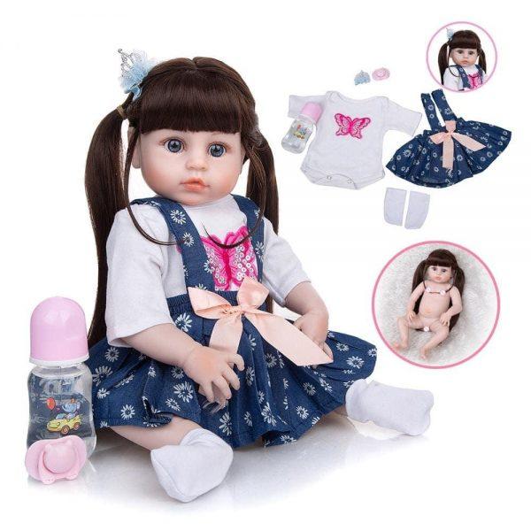 poupée reborn en silicone avec accessoires