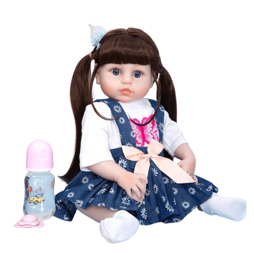 poupée reborn en silicone de face