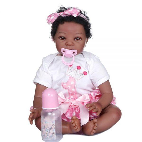 poupée reborn noir avec accessoires
