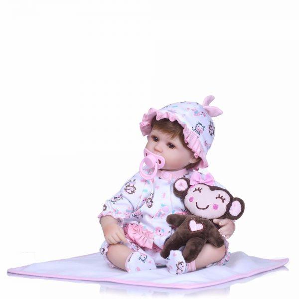 poupée reborn réalsite avec sucette aimantée