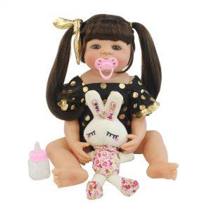 bébé reborn fille silicone avec accessoires