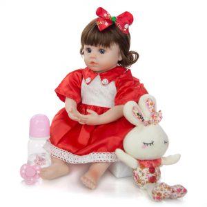 bébé reborn fille très réaliste avec accessoires