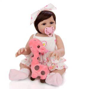 bébé reborn silicone fille pas cher avec accessoires