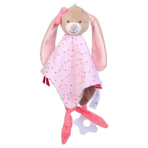 doudou lapin rose poupée réaliste fille
