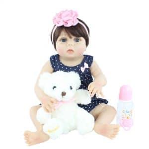 bébé reborn en silicone à adopter avec accessoires
