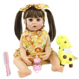 bébé reborn en silicone souple fille avec accessoires
