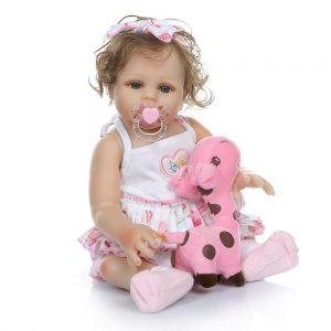 bébé reborn en silicone pas cher avec accessoires