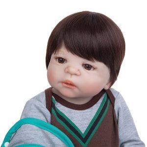 bébé reborn garçon en silicone pas cher de face
