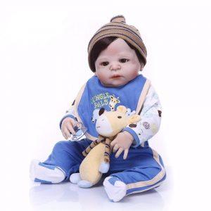 bébé reborn tout en silicone garçon avec accessoires