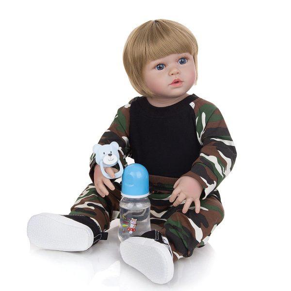 vrai bébé reborn tout en silicone avec accessoires