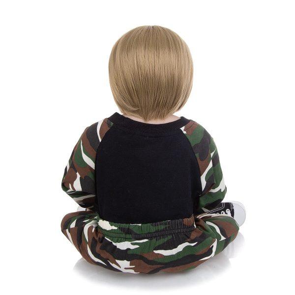 vrai bébé reborn tout en silicone de dos