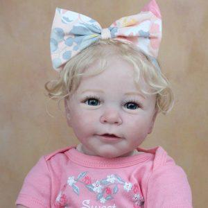 bébé reborn blonde réaliste 55 cm