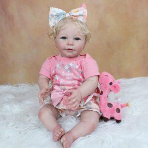 bébé reborn blonde réaliste avec accessoires