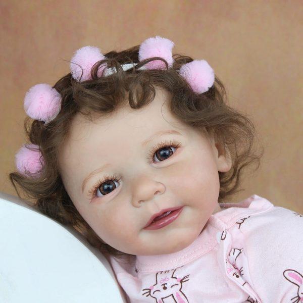 bébé reborn fille 55 cm de face