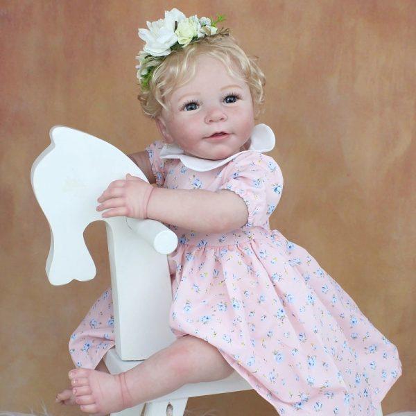 bébé reborn fille blonde 55 cm