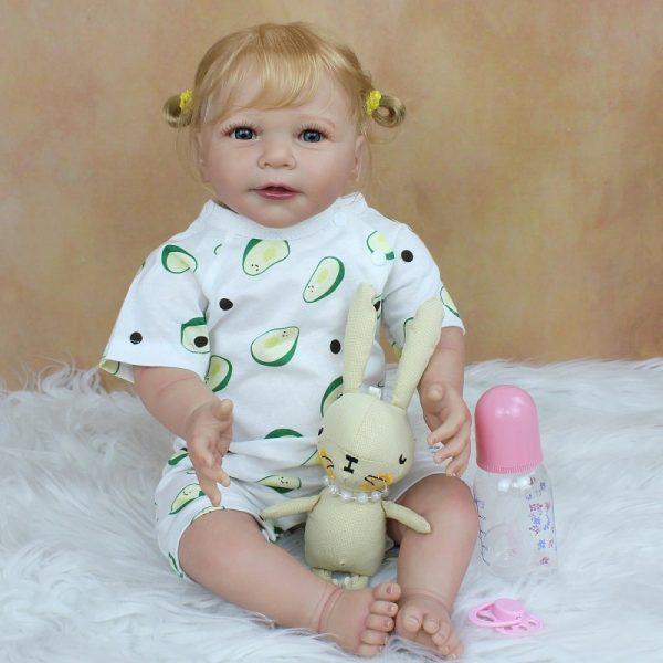 bébé reborn fille blonde avec accessoires