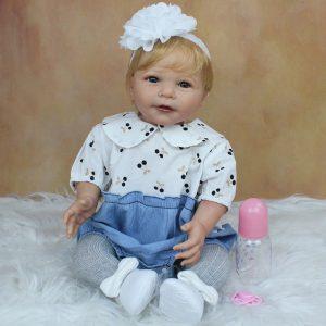 bébé reborn réaliste blonde 55 cm