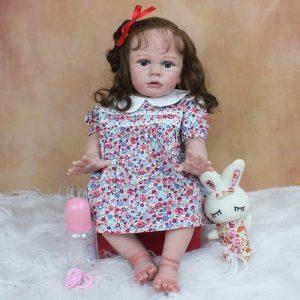 reborn bébé fille réaliste avec accessoires