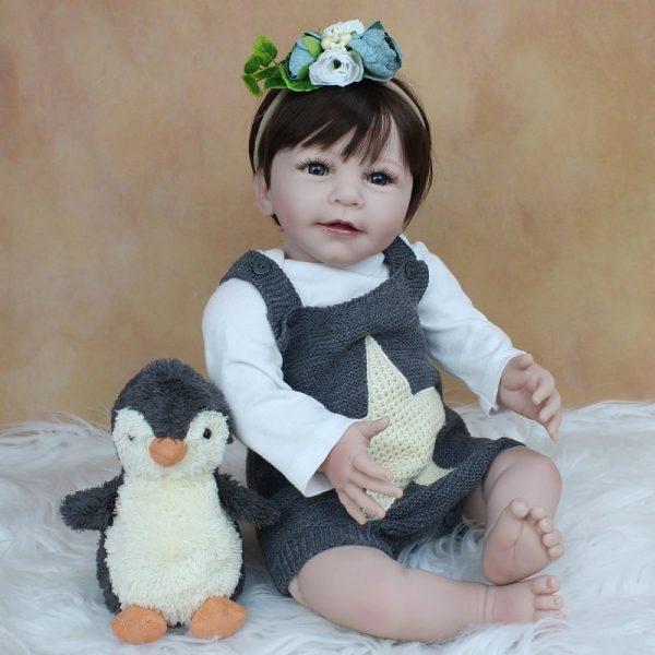 bébé reborn silicone fille avec accessoires