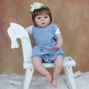 poupon réaliste bébé reborn fille 60 cm